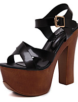 Women's Sandals Summer Sandals / Open Toe PU Casual Chunky Heel Others Black Others
