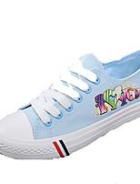 Mujer-Tacón Plano-Confort-Zapatillas de deporte-Exterior / Deporte-Vaquero-Azul / Blanco