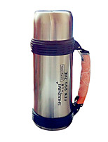 Travel Travel Bottle & Cup Travel Drink & Eat Ware Stainless Steel / Rubber Silver KUSHUN™