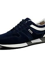 Men's Shoes Suede / Canvas Athletic / Casual Sneakers Athletic / Casual Sneaker Flat Heel Lace-up Black / Blue