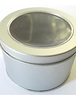 Silver Color Metal Material Packaging & Shipping Tins A Pack of Three