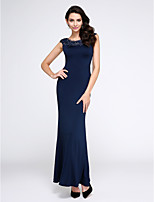 TS Couture® Formal Evening Dress Trumpet / Mermaid Scoop Ankle-length Jersey with Crystal Detailing / Lace