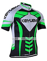 KEIYUEM® Cycling Jersey Unisex Short SleeveBreathable / Quick Dry / Ultraviolet Resistant / Front Zipper / Antistatic / Sweat-wicking /