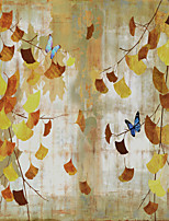 JAMMORY Wallpaper For Home Wall Covering Canvas Adhesive required Mural Ginkgo Biloba Butterfly3XL(14'7''*9'2'')