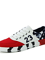 Men's Sneakers Spring / Fall Comfort Canvas Casual Flat Heel  Black / Red / White Running
