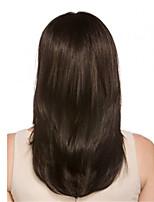 evawigs 16-26 дюймовые прямые бразильские парики волос Remy естественный прямой полный парик шнурка темно-коричневый