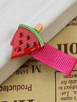 Women's Flower Girl's Plastic Red Watermelon Hair Clip