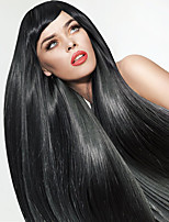 Straight Black Long Wigs for Women New Fashion Heat Resistant Synthetic Wigs