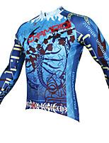 Deportes Bicicleta/Ciclismo Tops Hombres Mangas largas Transpirable / Resistente a los UV / Reductor del Sudor Coolmax ModaAzul / Caqui