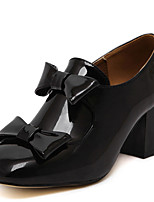 Women's Heels Fall Heels / Square Toe Leather Casual Chunky Heel Others Black / White Others