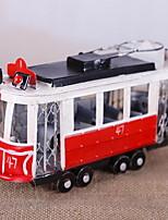 Retro Car Model Crafts Hand Iron Tramway Decoration