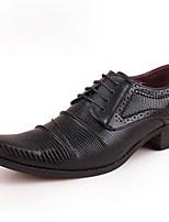 Черный Красный-Для мужчин-Для прогулок Для офиса Повседневный Для вечеринки / ужина-Лакированная кожаФормальная обувь-Туфли на шнуровке