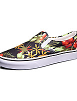 Vans Classics Slip On Men's Shoes Canvas Outdoor / Athletic / Casual Sneakers Black And Red
