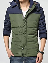 Young men winter jacket collar Short Cotton Mens Korean male slim color cotton padded jacket thick tide