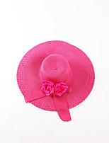 Oufulga Pink  Handmade Women Summer Sun Hat