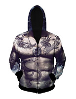 3D  Hoodie Long Sleeve Inspired by Muscula Body Anime Cosplay Costumes Cosplay Tops/Bottoms Print Black
