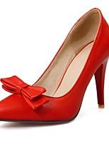 Mujer-Tacón Stiletto-Tacones / Puntiagudos-Tacones-Oficina y Trabajo / Casual-PU-Negro / Rojo / Blanco