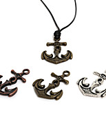 Beadia 3Pcs Metal Hook Clasp Findings 31x41mm Anchor Pendant For Necklace (4mm Hole)