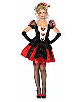 Poke Queen Costumes Angel & Devil / Vampires Halloween / Christmas / Carnival Red / Black Dress / Gloves / Headwear