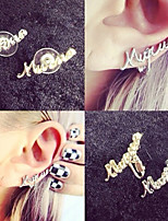 Earring Alphabet Shape Stud Earrings Jewelry Women / Men Fashion / Personality Daily / Casual Alloy 1 pair Gold / Silver