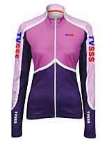 Deportes Bicicleta/Ciclismo Tops Mujer Mangas largas Transpirable / Cremallera delantera / Listo para vestir / Tejido Ultra LigeroLYCRA®