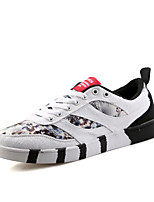 Men's Print Canvas Casual Athletic Skatenboarding Shoes for Breathable And Hard-wearing Flat Shoes