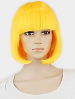 Neitsi Halloween Fashion Synthetic Hair Straight Short Wigs Cheap Full Lace Bob Wig Style Multi Color For Cosplay/Party