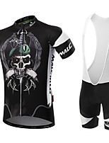Sports® Cycling Jersey with Bib Tights Men's Short SleeveBreathable / Quick Dry / Front Zipper / Wearable / High Breathability (>15,001g)