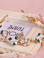 Rose Flower Wreaths Headband for Lady Wedding Party Holiday Hair Jewelry