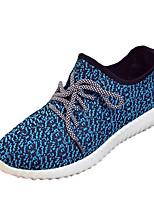 Femme-Décontracté-Noir / Bleu / Rouge / Gris-Talon Plat-Confort-Sneakers-Tulle