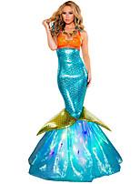 Costumes Déguisements de princesse Halloween / Carnaval / Fête d'Octobre Vert / Orange / Bleu Ciel Vintage Térylène Robe