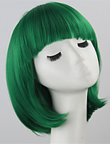 Fashion Green Color Straight BOBO Wigs For Afro European Cosplay Synthetic Wig
