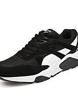 Herren-Sneaker-Lässig / Sportlich-Tüll-Flacher Absatz-Flache Schuhe-Schwarz / Grau