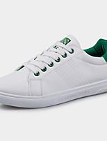 Черный / Зеленый-Мужской-На каждый день-Полиуретан-На плоской подошве-С круглым носком-На плокой подошве