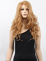 Women's Fashion Blonde Brown Mix Long Curly Synthetic Wigs For Women Wig.