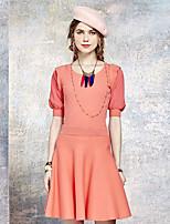 Heart Soul® Women's Round Neck 1/2 Length Sleeve Knee-length Dress-OW15-1055