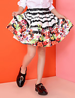 Girl's Casual/Daily Floral Dress / Skirt,Cotton / Polyester Summer / Spring / Fall White