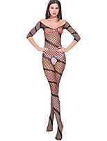 Women's Sexy Hollow Jacquard Siamese Net Clothes