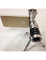 lente de la cámara de clip en general gato 12 veces teleobjetivos de telefonía móvil telescópica para la manzana Samsung mijo