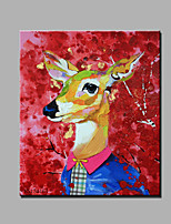 Single Modern Abstract Pure Hand Draw Ready To Hang Decorative  The  Animal Oil Painting