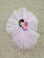 Women's Flower Girl's Fabric Pink  Flower Hair Clip