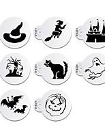 8pcs Halloween Stencil for Cookie Stencil Fondant Cake Decorating Tool Cupcake Stencil ST-842