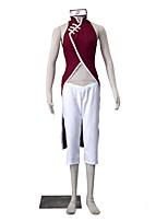 Inspiré par Naruto Sakura Kasugano Anime Costumes Cosplay Costumes Cosplay Couleur Pleine Blanc / Rouge Sans Manches Cheongsam / Pantalons