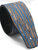 Pu Electric Guitar Strap Leather Strap Electric Guitar Back Personality Wood Road