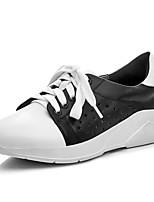 Mujer-Plataforma-Confort / Punta Redonda / Bailarinas-Zapatillas de deporte-Oficina y Trabajo / Casual / Vestido-Pelo de Ternero-Negro
