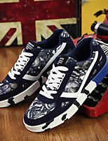 Men's Sneakers Summer Comfort / Round Toe PU Casual Flat Heel Lace-up Black / Blue / Red Others