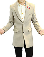 2016 men's casual suit cotton fashion city in the long section of the new slim woollen suit