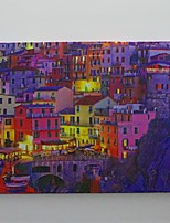 LED Canvas Print,Manarola