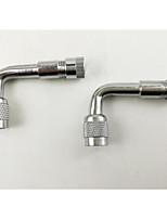 ventil mun metall förlängningsstång 4292, uppblåsbart rör ve36 amerikansk metal gas munstycke, krom silver