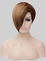Highlights the Golden Brown Short Hair Synthetic Wigs